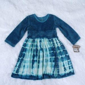Mignone Teal Tie Dye Dress